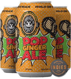 Mockup Pop Ginger Ale Can 3Cans MEDALS WEB